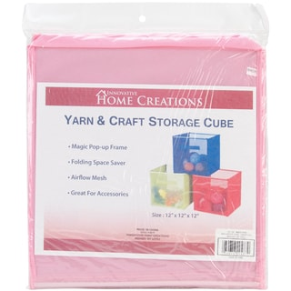 Yarn & Craft Storage Cube 12inX12inX12inPink
