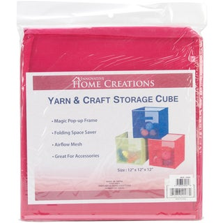 Yarn & Craft Storage Cube 12inX12inX12inFuchsia