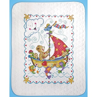 Link to Sail Away Baby Quilt Stamped Cross Stitch Kit34inX43in Similar Items in Ottomans & Storage Ottomans