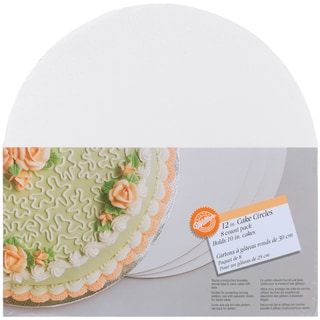 Cake Boards12in Circle 8/Pkg