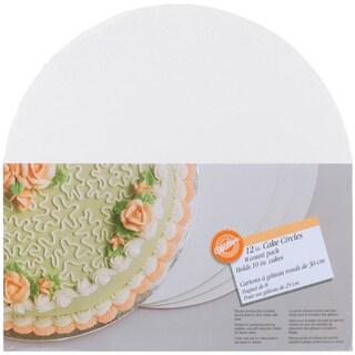 Cake Boards12in Circle 8/Pkg