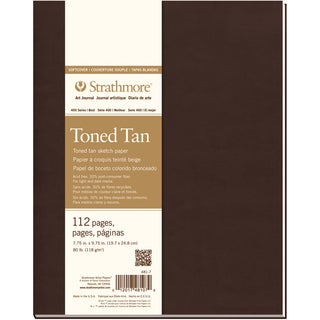 Strathmore Toned Sketch Softcover Journal 7.75inX9.75inTan 56 Sheets
