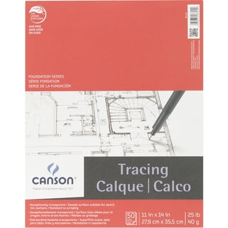Canson Foundation Series Tracing Paper Pad 11inX14in50 Sheets