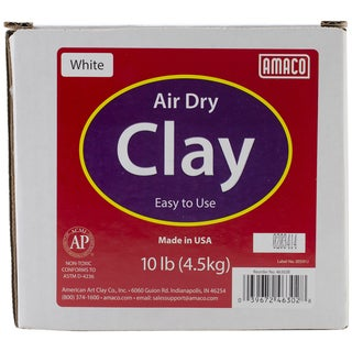 Amaco AirDry White Modeling Clay 10lb