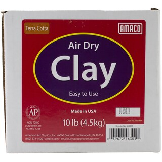 Amaco AirDry Terra Cotta Modeling Clay 10lb