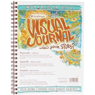 Strathmore Visual Journal Watercolor 9inX12in34 Sheets