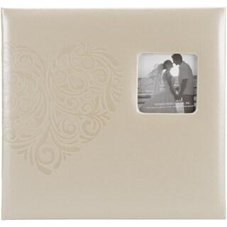 Embossed Wedding Post Bound Album 12inX12inHeart