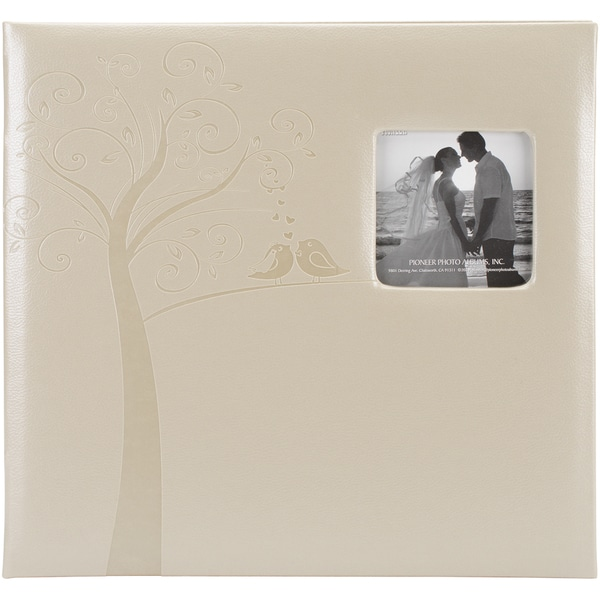 Embossed Wedding Post Bound Album 12inX12inTree