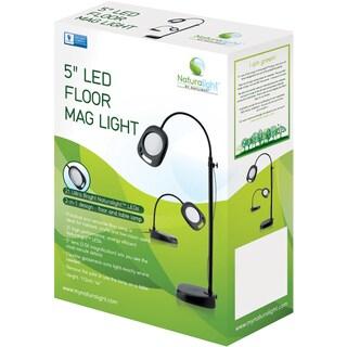 Daylight Naturalight LED 5in Floor Magnifying LightBlack