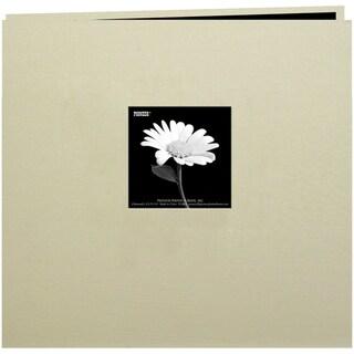 Book Cloth Cover Post Bound Album 12inX12inBiscott Beige