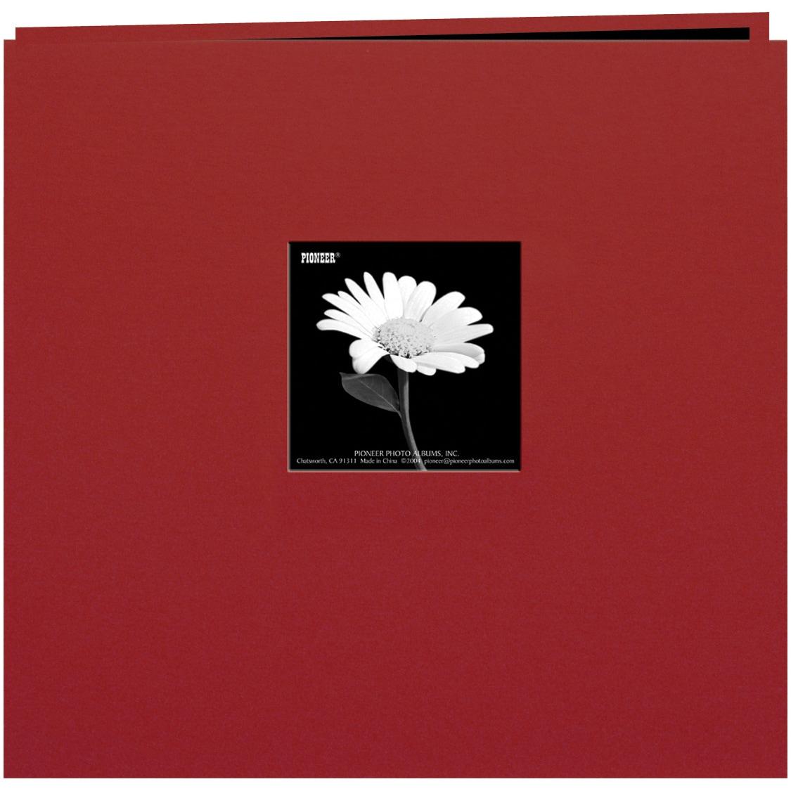 Pioneer Book Cloth Cover Post Bound Album 12inX12inBurgun...
