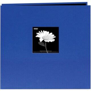 Book Cloth Cover Post Bound Album 12inX12inCobalt Blue