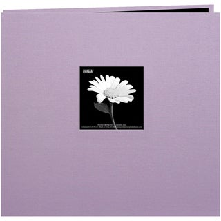 Book Cloth Cover Post Bound Album 12inX12inMisty Lilac