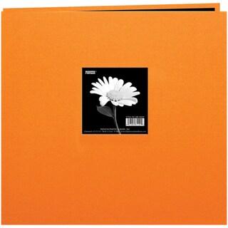 Book Cloth Cover Post Bound Album 12inX12inOrange