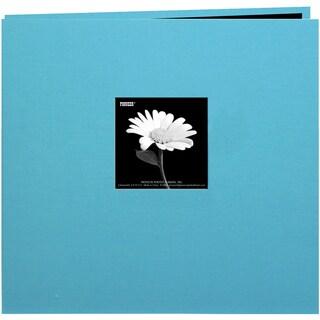 Book Cloth Cover Post Bound Album 12inX12inTurquoise Blue