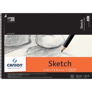 Canson Universal Spiral Sketch Book 18inX24in35 Sheets