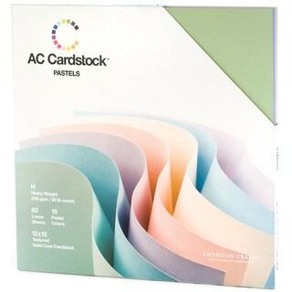American Crafts Seasonal Cardstock Pack 12inX12in 60/PkgPastels