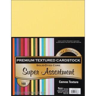 Core'dinations Value Pack Cardstock 8.5inX11in 160/PkgSuper Assortment Textured