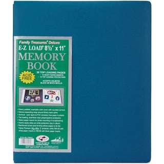 Family Treasures Deluxe Fabric Post Bound Album 8.5inX11inSeabreeze Blue