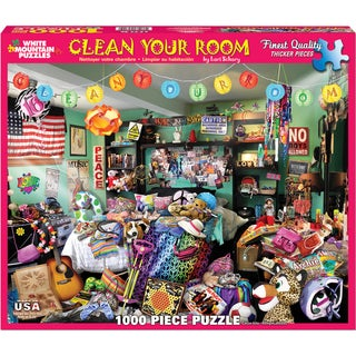 Jigsaw Puzzle 1000 Pieces 24inX30inClean Your Room