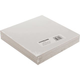 Medium Weight Chipboard Sheets 6inX6in 25/PkgWhite