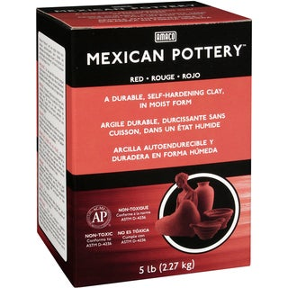 Mexican SelfHardening Clay 5lbRed