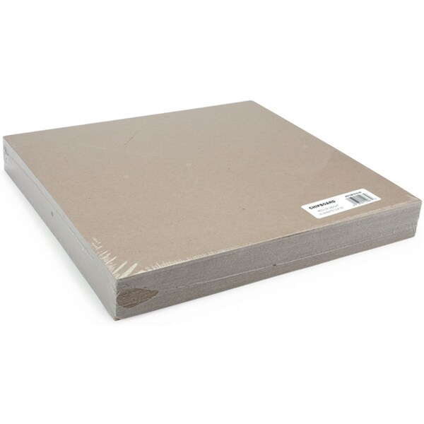 Medium Weight Chipboard Sheets 12inX12in 25/PkgNatural