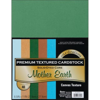 Core'dinations Value Pack Cardstock 8.5inX11in 40/PkgMother Earth  Textured