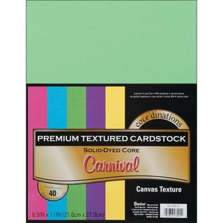Core'dinations Value Pack Cardstock 8.5inX11in 40/PkgCarnival  Textured