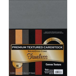 Core'dinations Value Pack Cardstock 8.5inX11in 40/PkgTimeless Textured