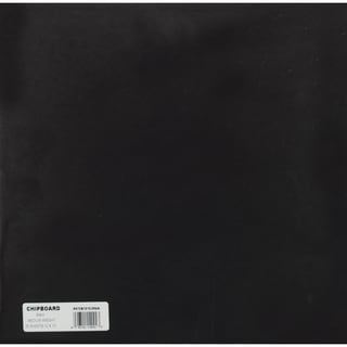 Medium Weight Chipboard Sheets 12inX12in 25/PkgBlack
