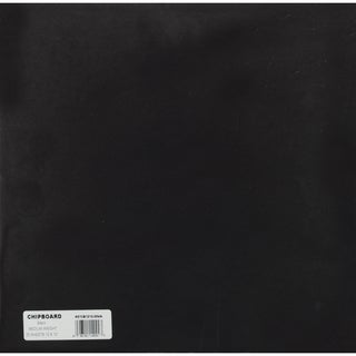 Medium Weight Chipboard Sheets 12inX12in 25/PkgBlack
