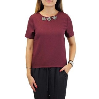 Relished Women's Blu Pepper Bordeaux Nights Blouse