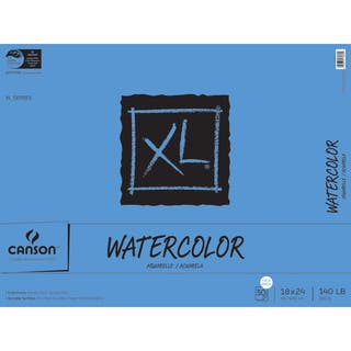 Canson XL Watercolor Paper Pad 18inX24in30 Sheets|https://ak1.ostkcdn.com/images/products/10548446/P17628199.jpg?impolicy=medium