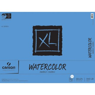Canson XL Watercolor Paper Pad 18inX24in30 Sheets