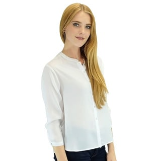 Relished Women's Contemporary Arina White 3/4-sleeve Shirt