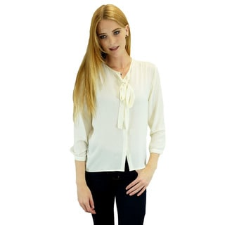 Relished Women's Contemporary Corinne White Long Sleeve Blouse