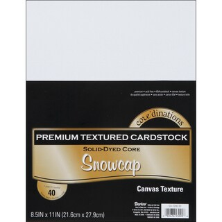 Core'dinations Value Pack Cardstock 8.5inX11in 40/PkgSnowcap Textured