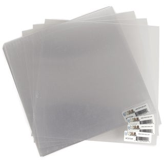 Acrylic Sheets 12inX12in 25/PkgClear .020in