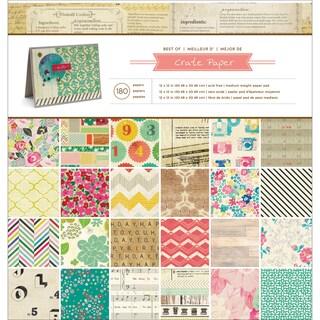 Crate Paper Paper Pad 12inX12in 180/PkgBest Of Crate Paper