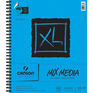 Canson XL Spiral MultiMedia Paper Pad 11inX14in60 Sheets
