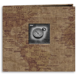 Travel Post Bound Album 12inX12inWorld Map