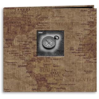 Travel Post Bound Album 12inX12inWorld Map