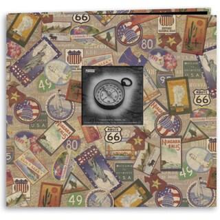 Travel Post Bound Album 12inX12inTravel Stickers