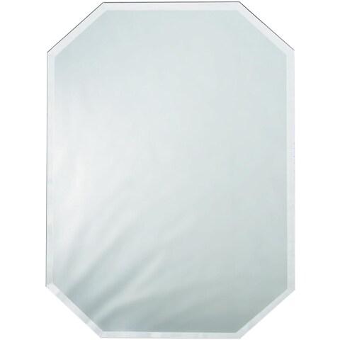 Octagon Glass Mirror Place Mat W/Bevel Edge Bulk12inX18in