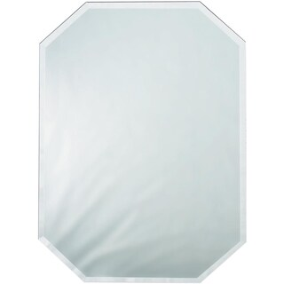 Octagon Glass Mirror Place Mat W/Bevel Edge Bulk12inX18in