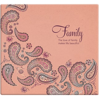 Inspirations Post Bound Paper Scrapbook 12inX12inFamily Paisley  Peach