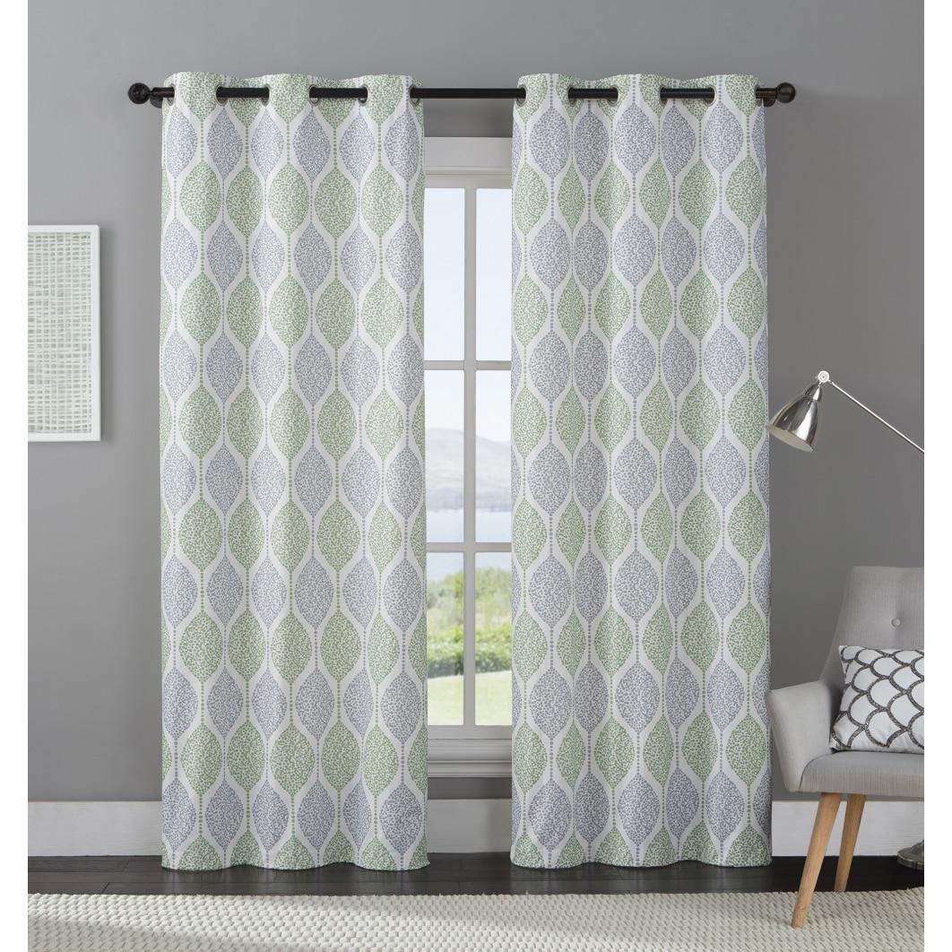 Vcny Organic Leaf Curtain Panel Pair