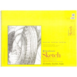 Strathmore Sketch Spiral Paper Pad 18inX24in30 Sheets