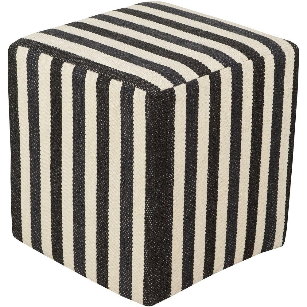 Shop Striped Agen Square PVC 16-inch Pouf - 10548664